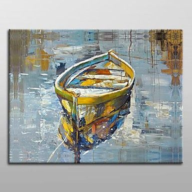 Hand Painted Modern Abstract Oil Painting with Stretched Frame Ready to Hang – AUD $ 85.39