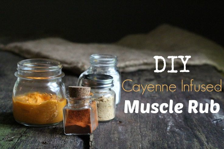 DIY Cayenne Infused Muscle Rub..