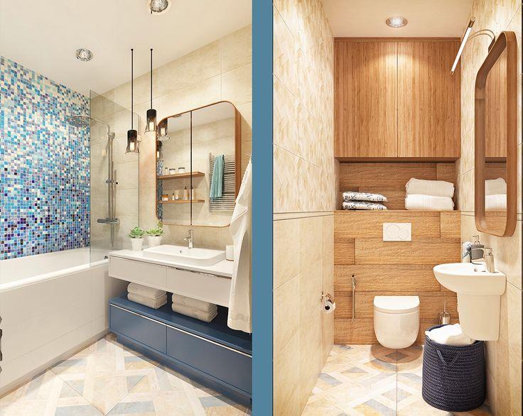 Fabulous bathroom design with colorful theme. Do you like a colorful theme?