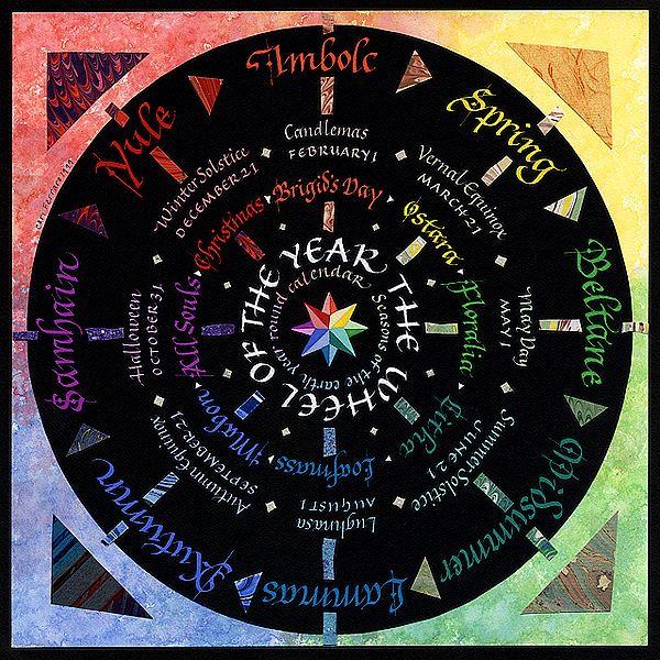Wheel of the Year Mandala by Cari Ferraro