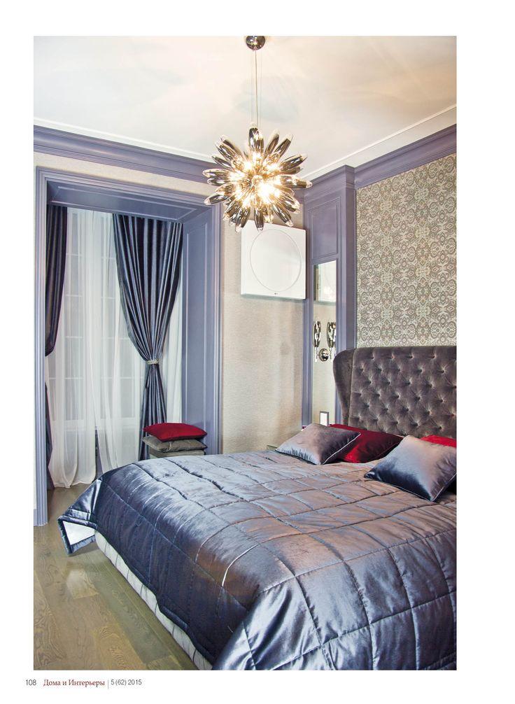 Камерная спальня в фиолетовых тонах по проекту Ермека Ушпаева #спальня #дизайн #дизайнспальни #домаиинтерьеры
