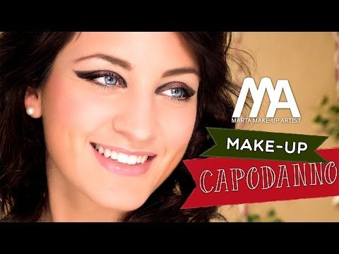 Trucco Festa di Capodanno 2014 | Come truccarsi con lo scotch | Marta Make-up Artist - YouTube