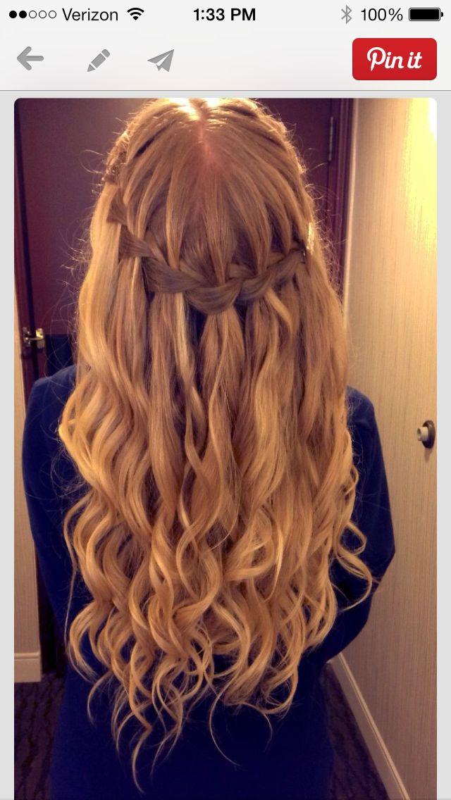 Waterfall braid • Prom Hairstyle Idea • Braid •