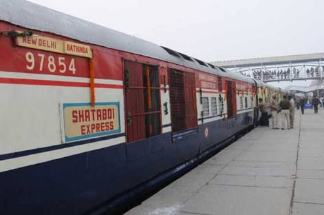On Sunday afternoon, Lucknow-bound Shatabdi Express from New Delhi was checked again at Kanpur station.