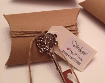 Skeleton Key Bottle Opener Wedding Favor with by TreesofLace