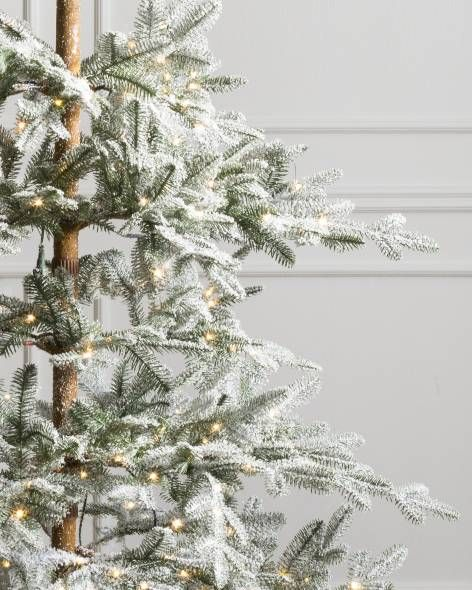 Frosted Alpine Balsam Fir Artificial Christmas Tree By Hill