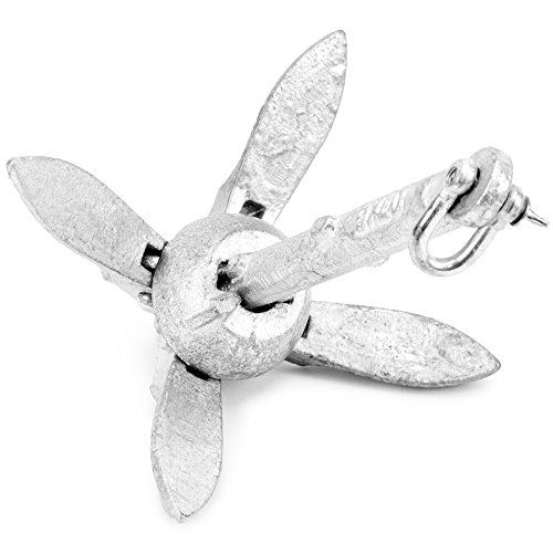 Galvanized Folding Grapnel Boat Anchors - Choose the Best Weight for Your Watercraft, Up to 17.5 lbs. by Crown Sporting Goods (1.5).