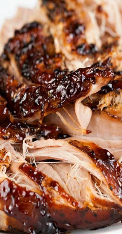 CROCK POT BROWN SUGAR, BALSAMIC-GLAZED PORK TENDERLOIN | http://LaurasSweetSpot.com