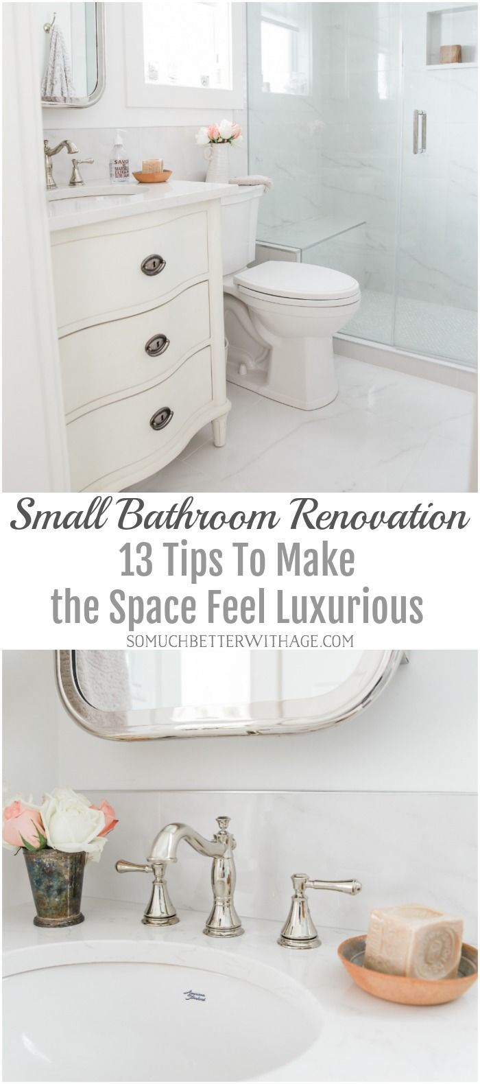 Small Bathroom Renovation And 13 Tips To Make It Feel Luxurious Small Bathroom Renovation Small Bathroom Renovations Top Bathroom Design