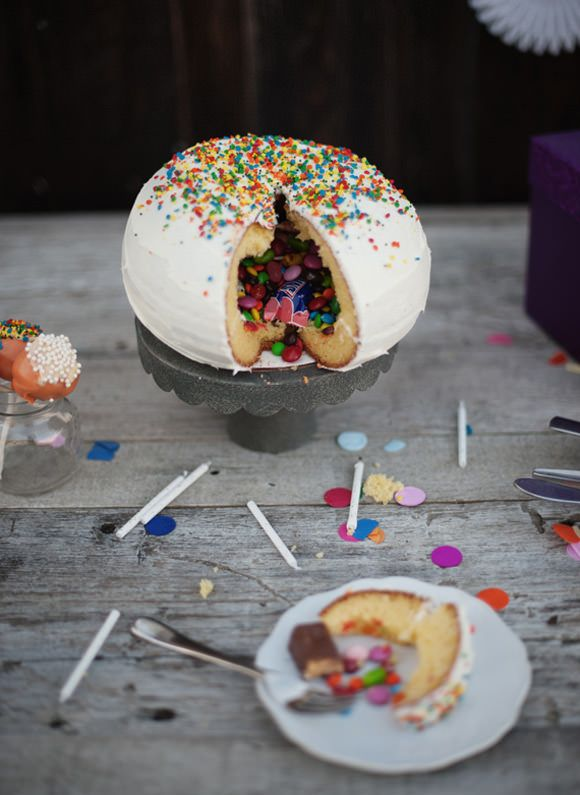Check out this piñata cake from our fab contributor Victoria Hudgins of A Subtle Revelry!
