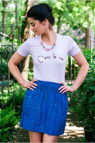 C'est La Vie Tee S-XL $28.00 USD Summer Fun Batik Skirt XS-XXL $54.00 USD