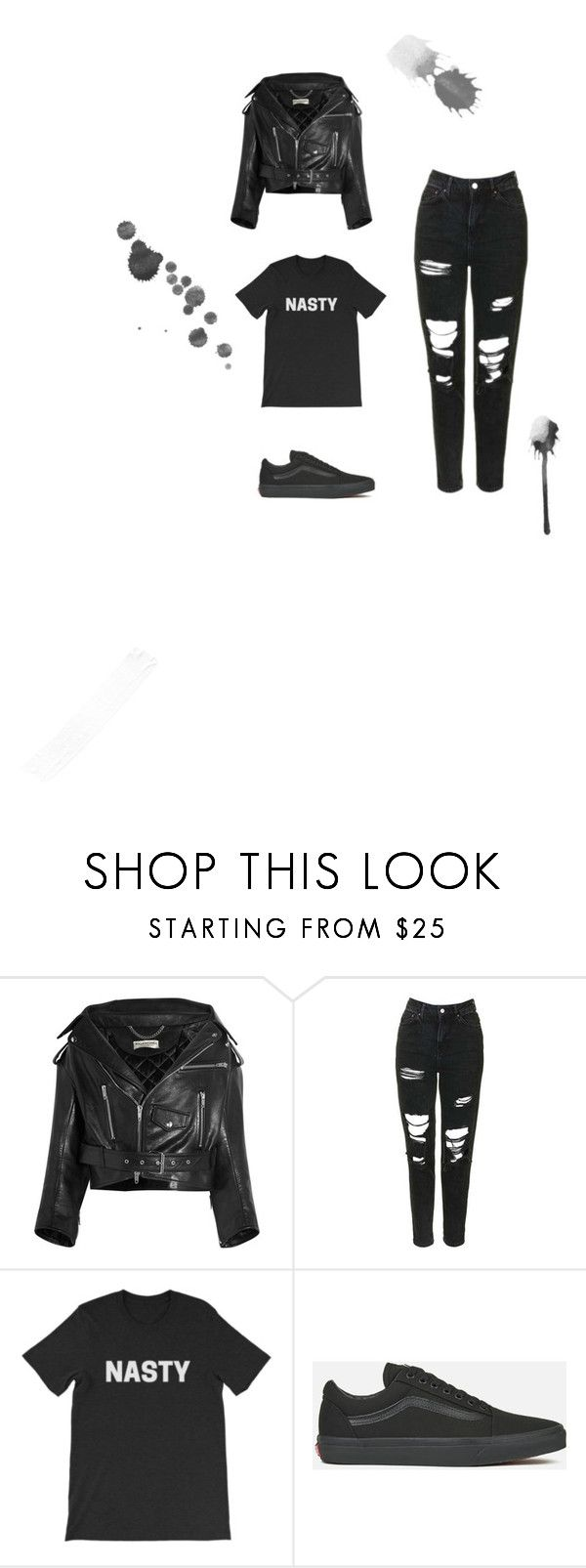 """""""Hope potential outfit"""" by noalightman ❤ liked on Polyvore featuring Balenciaga, Topshop and Vans"""
