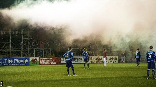 Forfar chairman has 'no solution' to flare problems