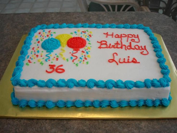 Simple Birthday cake - Sheet cake - Here is another one to match the one I just previously posted.  This one will be taken to a dinner they will be having with friends and the smaller one is for them to enjoy at home for the rest of the week.