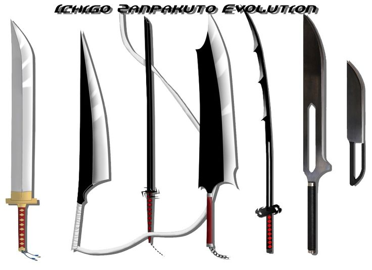 BLEACH, Zanpakuto Sword Evolution of Kurosaki Ichigo, Sword in Manga/Anime