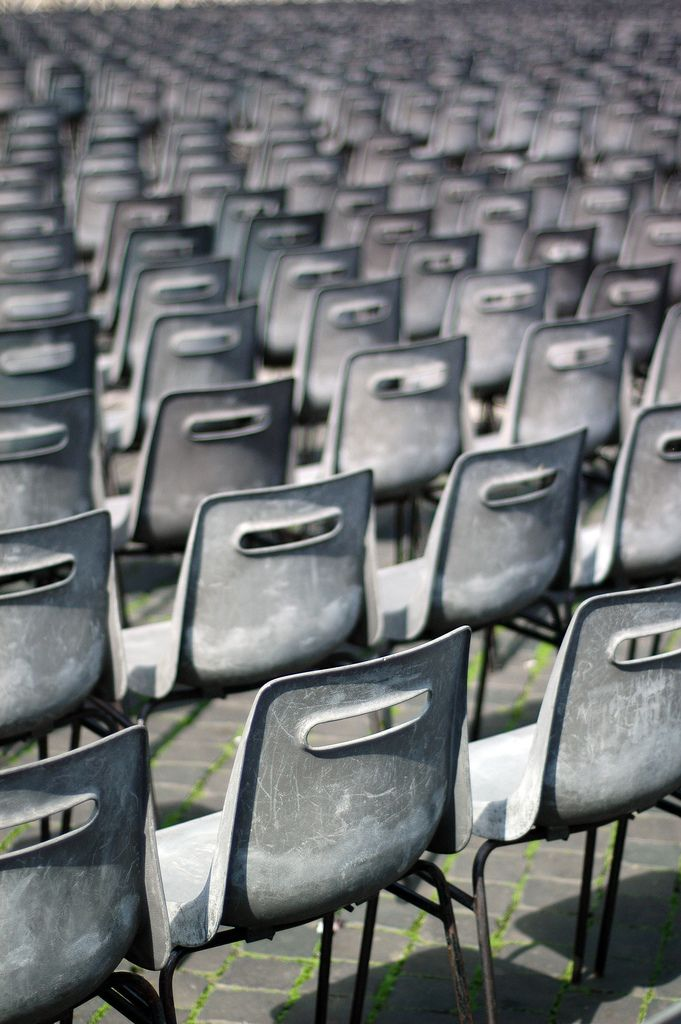 #pattern #repetition #white #chairs