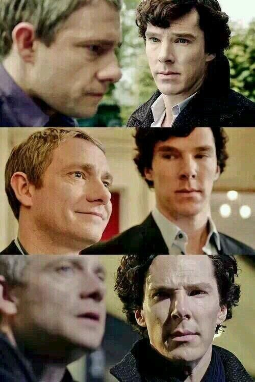 """""""You look sad when you think he can't see you."""" Sherlock"""