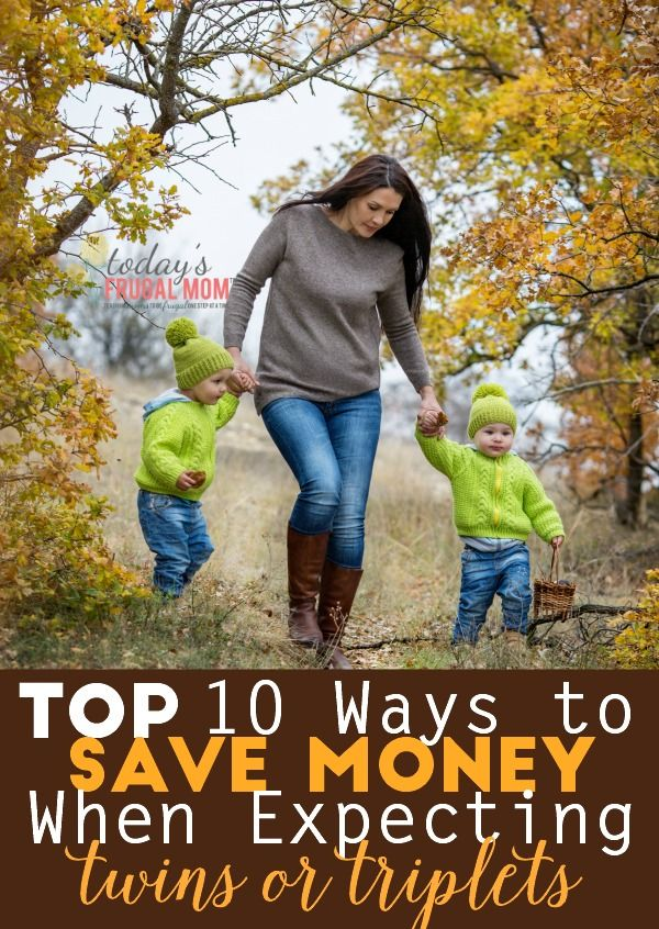 Are you looking at ways to save when expecting multiples? Come and look at the top 10 ways to save money when expecting twins or triplets! :: todaysfrugalmom.com