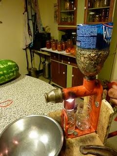 pressing sunflower oil