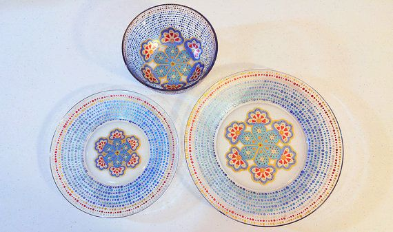 Check out this item in my Etsy shop https://www.etsy.com/listing/256099781/dinnerware-blue-dining-set-mandalas