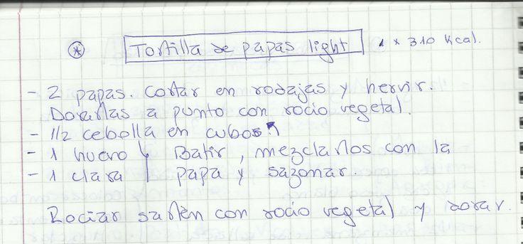 TORTILLA DE PAPAS LIGHT   #SALADO #PLATOS #PLATO #PAPAS