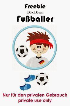 Stickdatei Fussballer Freebie