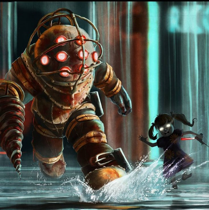 """138 Likes, 1 Comments - Geekcentre (@geekcentre) on Instagram: """"Bioshock by AndyFairhurst on DeviantART #bioshock #game #gameart #xbox #pc #ps #awesome #cool…"""""""
