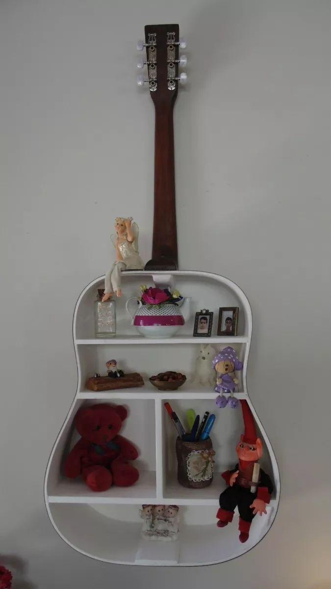 Violão Folk Estante Prateleira Útil Decorativo - R$ 349,99