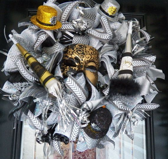 2015 New Years Wreath New Year's Party by OccasionsBoutique