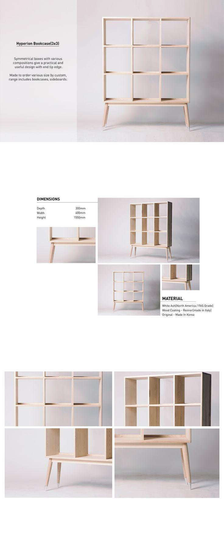 [Ash] Hyperion 3X3 Bookcase