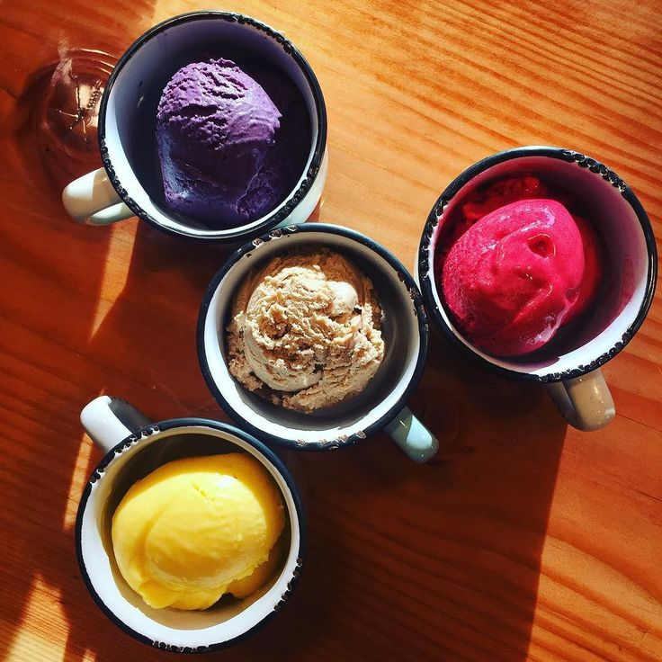 #hightea hack...scoop of #veryearlgreylondonfog pairing one or all of the three fruity flavors #raspberrysorbet #mangosorbet #blueberry ice cream...might as well bring in the #creamcheesecranberry ! . Happy Canada Day! . We operate from 9:30am to 10:30pm! . 2729 Arbutus Street Vancouver.