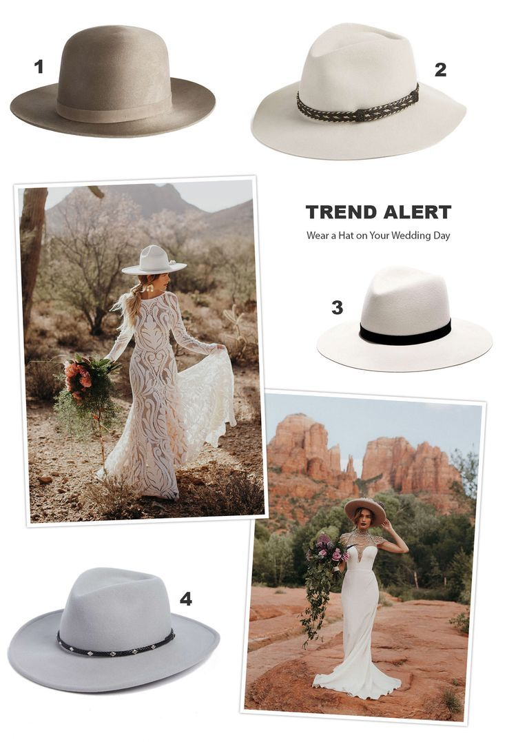 Wear a Hat on Your Wedding Day! // boho bride hat style fashion outfit
