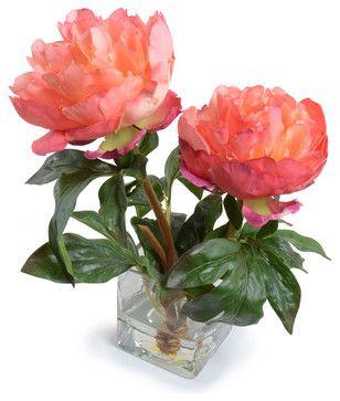 Peony Arrangement eclectic artificial flowers
