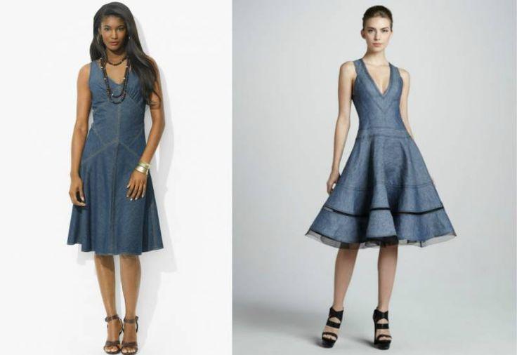 Джинсовые платья: обзор моделей и правила сочетания