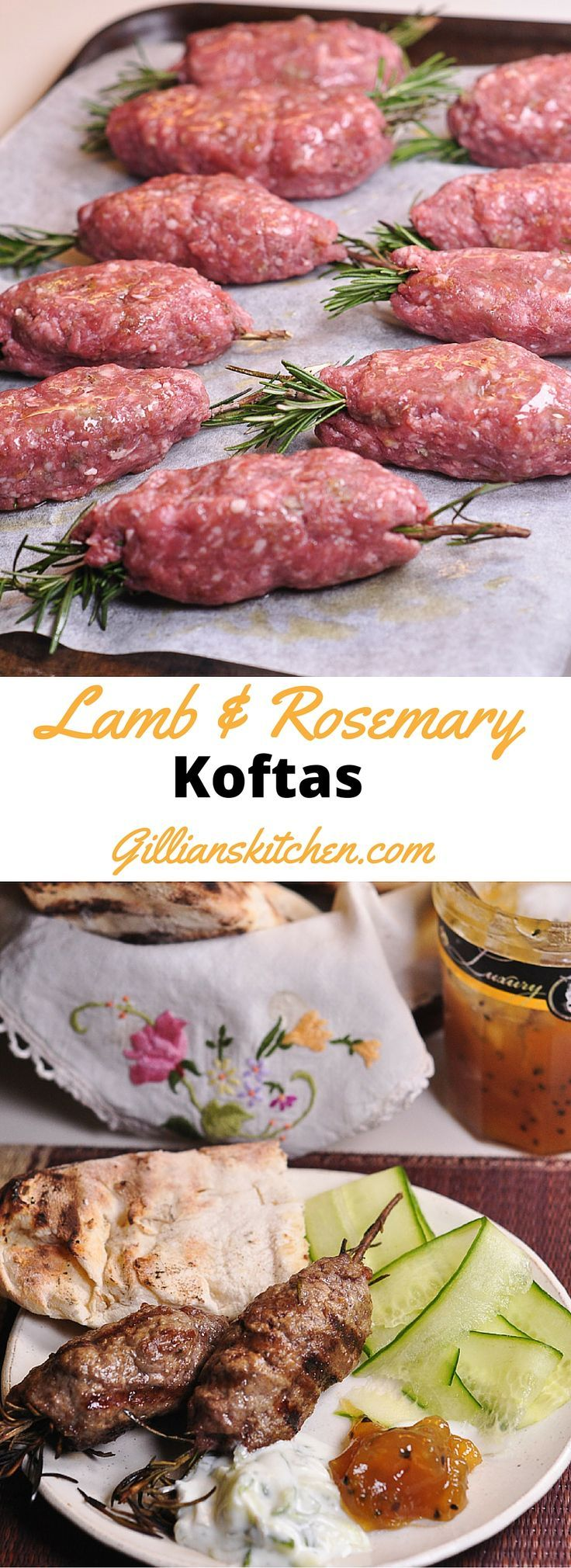Lamb & Rosemary Koftas long pin