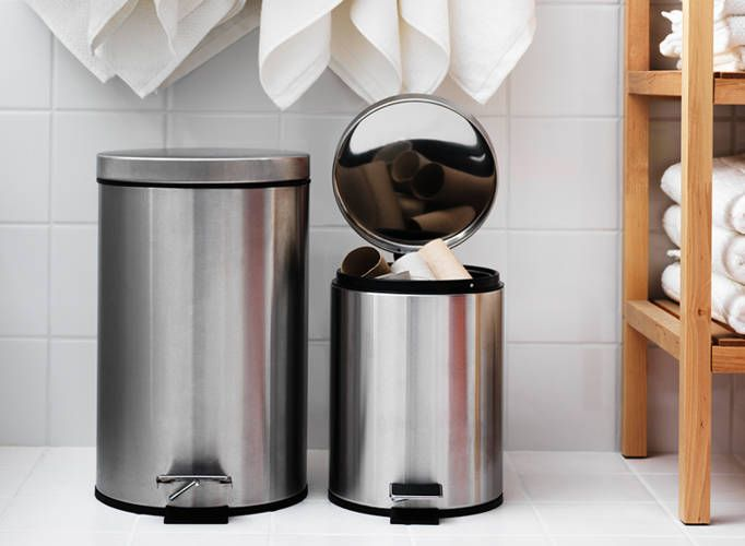 IKEA Catalog 2015. Love the recycle vs. trash idea. Also CHEAP foot cans. Replace stupid white one in guest bathroom.