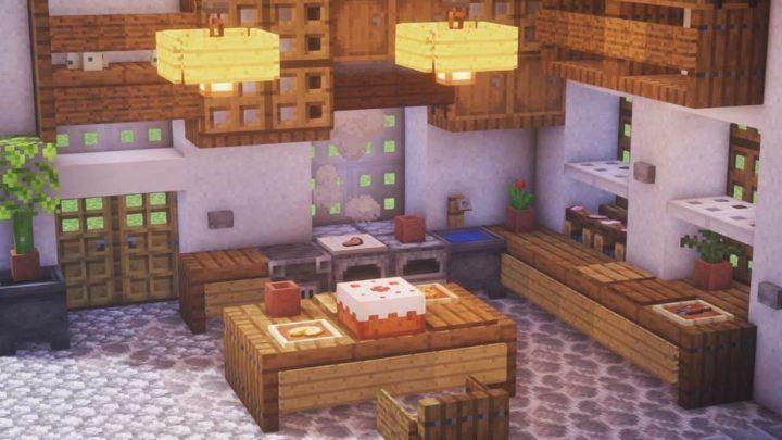 Excellent Kitchen Design Botcraft Net Minecraft Interior Design Minecraft Creations Minecraft Blueprints