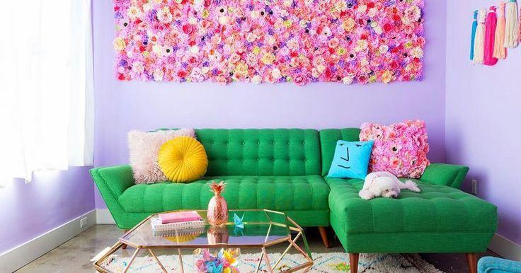 Cette femme habite dans un appartement follement coloré et même les licornes en sont jalouses