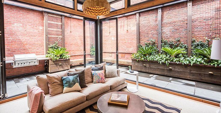 How incredible does Brad and Dale's Living Room look with the Outdoor Terrace finished?! So open and light. #TheBlock #TheGoodGuys
