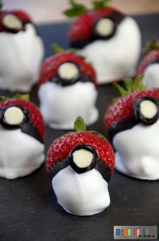 Chocolate Covered Strawberry Pokemon Go Balls - Pokemon Food and Party Ideas for…