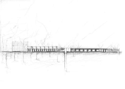 a2o architecten gana concurso para diseñar crematorio en Bélgica,Croquis. Imagen cortesía de a2o architecten