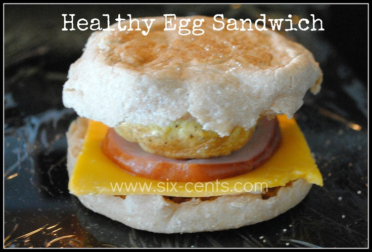 Six Cents: Make 1 dozen breakfast sandwiches for the freezer by cooking eggs in muffin tin.
