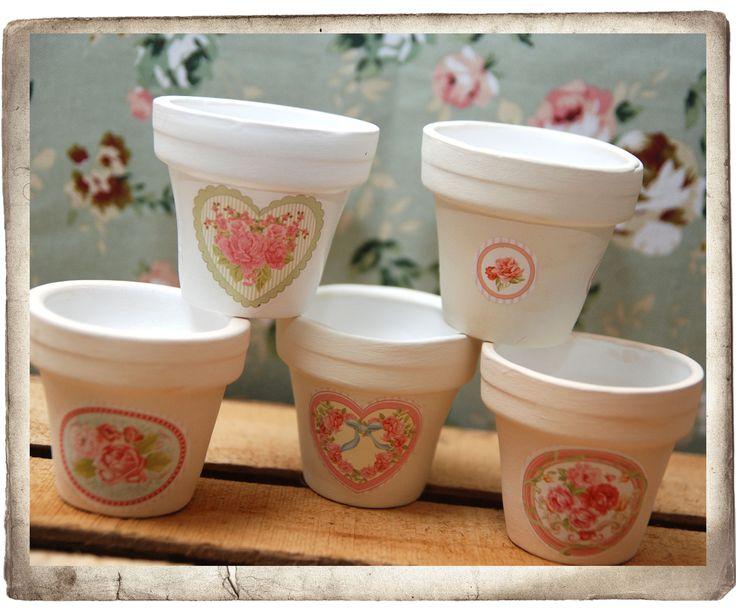 Macetitas estilo shabby caroline pinterest paint pots - Estilo country chic ...