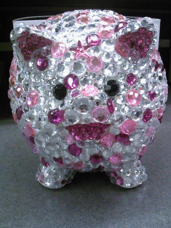 Bling Rhinestone Piggy Bank By Evrhinestones On Etsy Things I Think Amanda Will Like