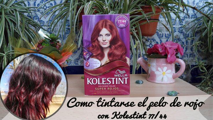 Como teñirse el pelo de rojo con Kolestint 77/44