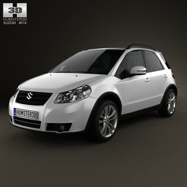 Suzuki (Maruti) SX4 hatchback 2012 3d model from humster3d.com. Price: $75