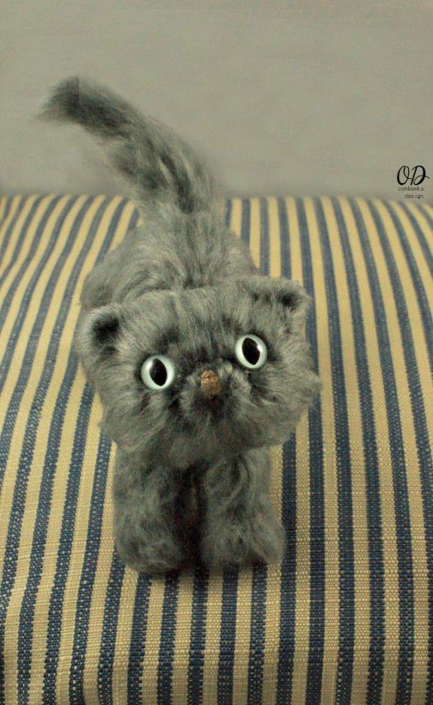 Fantástico Patrones De Crochet Libre De Gato Bosquejo - Manta de ...