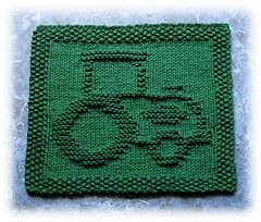 Ravelry: John's Tractor Dishcloth pattern by Rachel van Schie $2.00 download