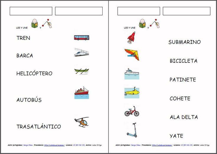 MATERIALES - Los medios de transporte. Diferentes materiales para ...