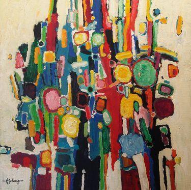 """Saatchi Art Artist Eric Schaap; Painting, """"different drum III"""" #art"""